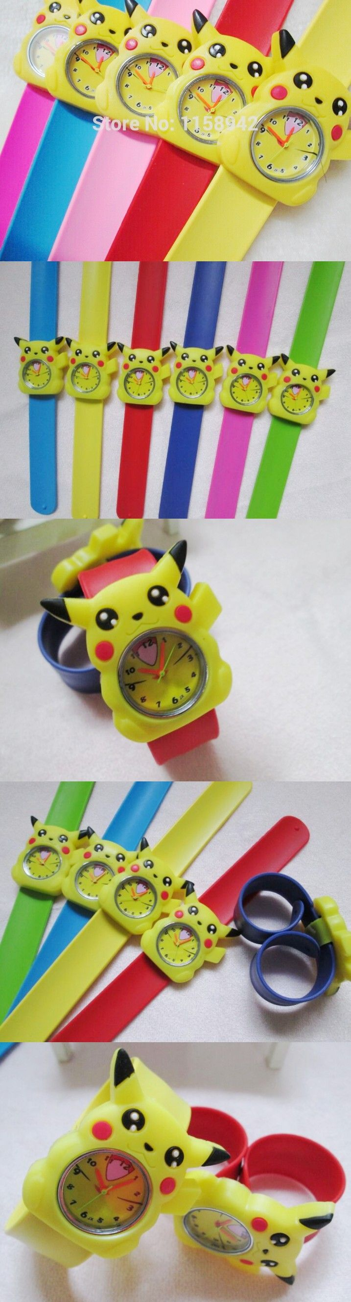 Kids colorful jelly silicone clap clock , children lovely slap watch free shipping 10pcs/lot kids Pokemon watches pikachu watch