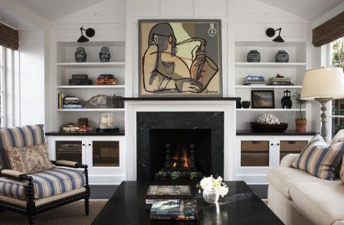 Traditional furniture, modern built ins