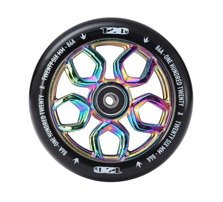 Envy Scooter Wheel Lambo 120mm - Oil Slick/Black (Pair)