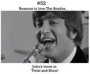 Reason to love The Beatles. I don't want to pick a favorite, but if I had to, it would be John.