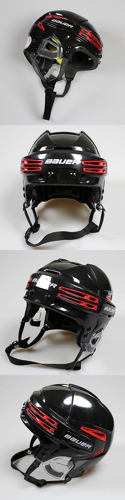 Helmets 20854: New Bauer Re-Akt 75 Senior Ice Hockey Helmet Black Red -> BUY IT NOW ONLY: $119.99 on eBay!
