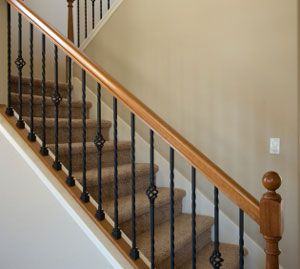 Iron Spindles - would love to put these in my new house, but I'd need to replace 110 wood spindles - yikes, that's a lot!