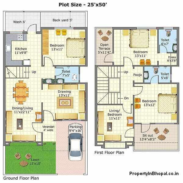 The 25 best indian house plans ideas on pinterest plans Duplex house plans indian style