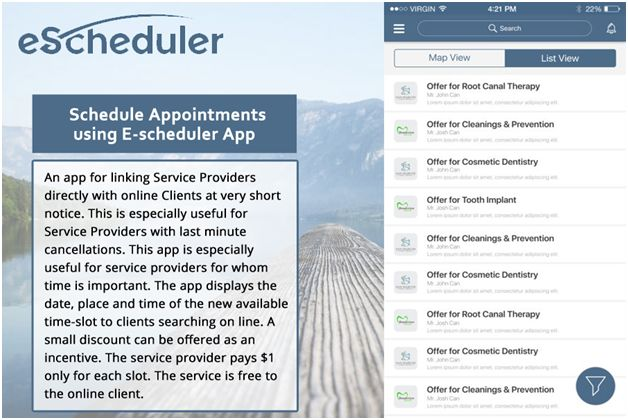 Now it become easy to book and mange appointments with the service provider using a simple app say eScheduler which is available for both android and IOS operating systems.