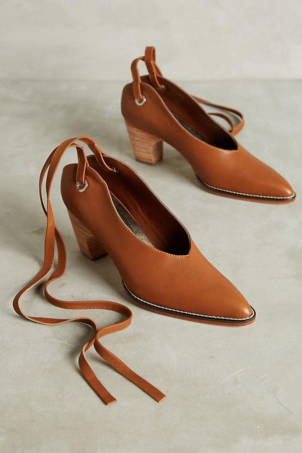Slide View: 1: Rachel Comey Fonda Ankle-Tie Pumps