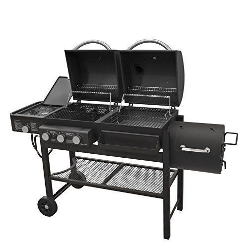 Details About Gas Charcoal Smoker Grill Mat Set Combo 4 Burner Patio BBQ  Parts On Clearance