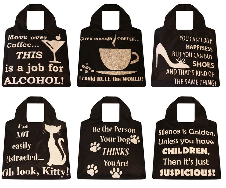 """""""You can't buy happiness but you can buy shoes, and that's kind of the same thing.""""  Envirotrend's LOL series of reusable shopping bags is right on the mark."""