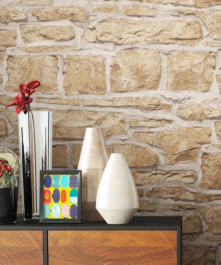 die besten 25 steintapete ideen auf pinterest steinoptik wand steinwand und steinwand wohnzimmer. Black Bedroom Furniture Sets. Home Design Ideas