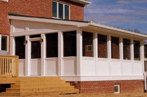 Tornado shelter below sun room pinterest safe room for Porch storm shelter
