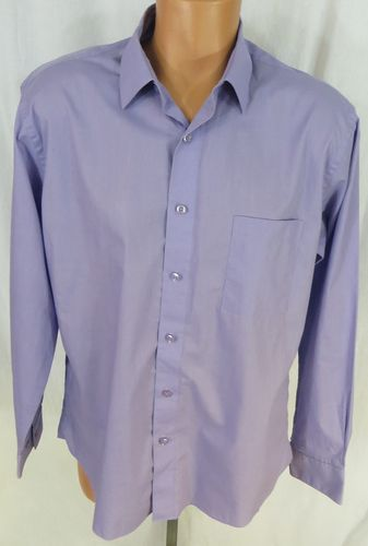 """PIERRE CARDIN"" SLIM FIT LIGHT PURPLE BUTTON FRONT SHIRT - SEE ALL PICTURES"