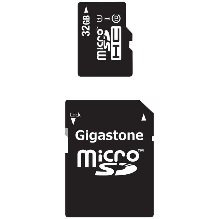 Gigastone Class 10 Uhs-1 Microsdhc Card & Sd Adapter (32gb)