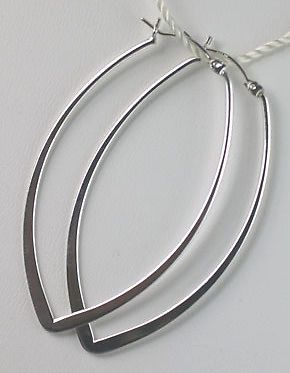 Sterling Silver Pointed Oval Hoop Earrings Jewelry Pinterest And