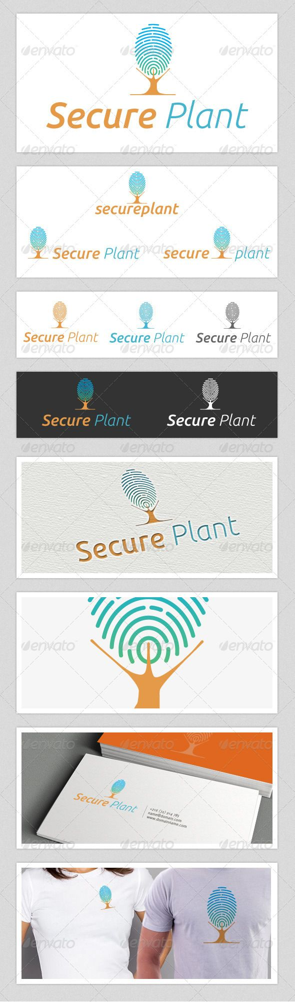 Secure Plant Finger Print Logo  #GraphicRiver         Secure Plant logo basically a logo with the concept of a tree with finger print. this mean some product or zone, area, factory, plant are secure. thumb print scan company and security provider can use this logo.   Font: Ubuntu Download: font.ubuntu /     Created: 15December12 GraphicsFilesIncluded: PhotoshopPSD #VectorEPS #AIIllustrator Layered: No MinimumAdobeCSVersion: CS Resolution: Resizable Tags: ThumbPrint #assured #creative…