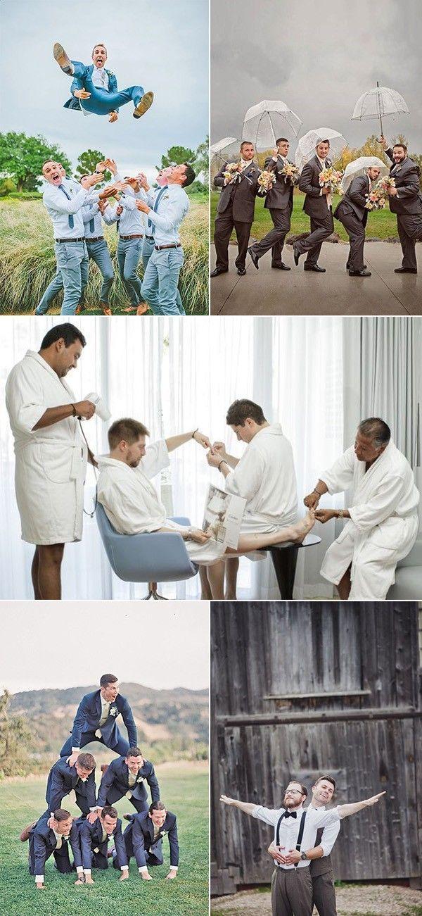 15 kreative und lustige Groomsmen Hochzeit Foto-Id…