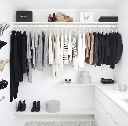 Image de clothes, white, and closet