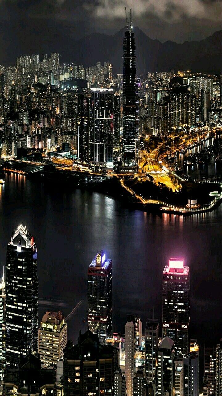 Обои ночные огни, ночной город, Пейзаж. Города foto 6