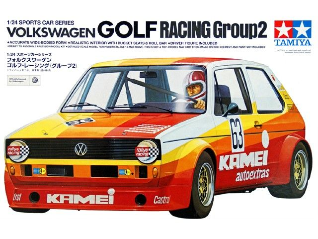 Boxart Volkswagen Golf Racing Group 2 24008 Tamiya