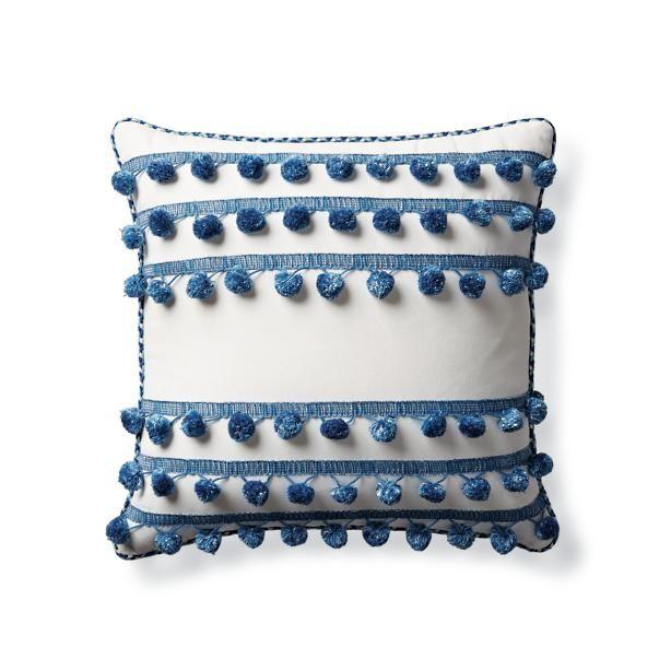 Pom Pom Rows Outdoor Pillow