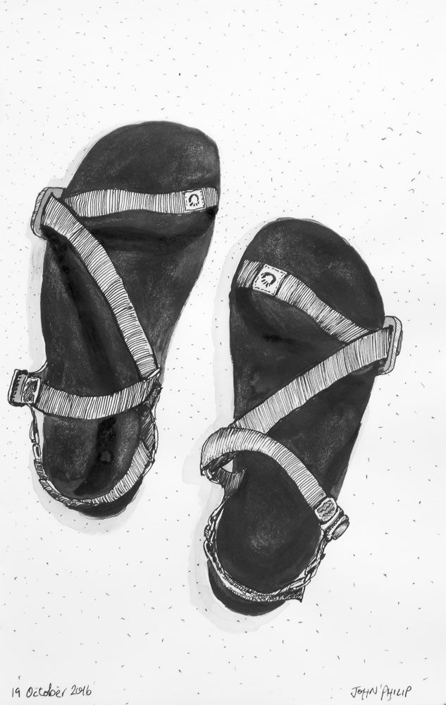 Day 19 - Xero Shoes #inktober #inktober2016 http://www.johnphilip.co.za/?p=1414
