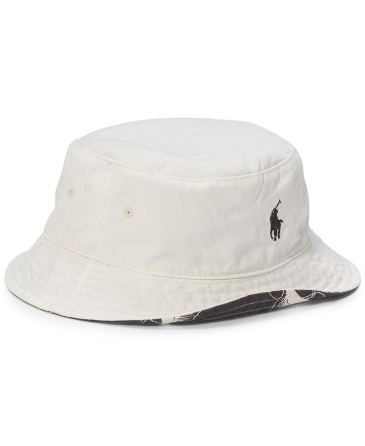 Polo Ralph Lauren Flamingo-Print Reversible Bucket Hat