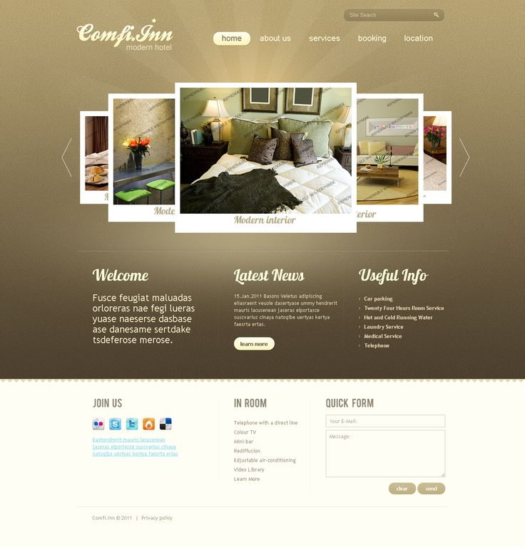Motel accommodation hotel web design idea 1 344 for Hotel web design