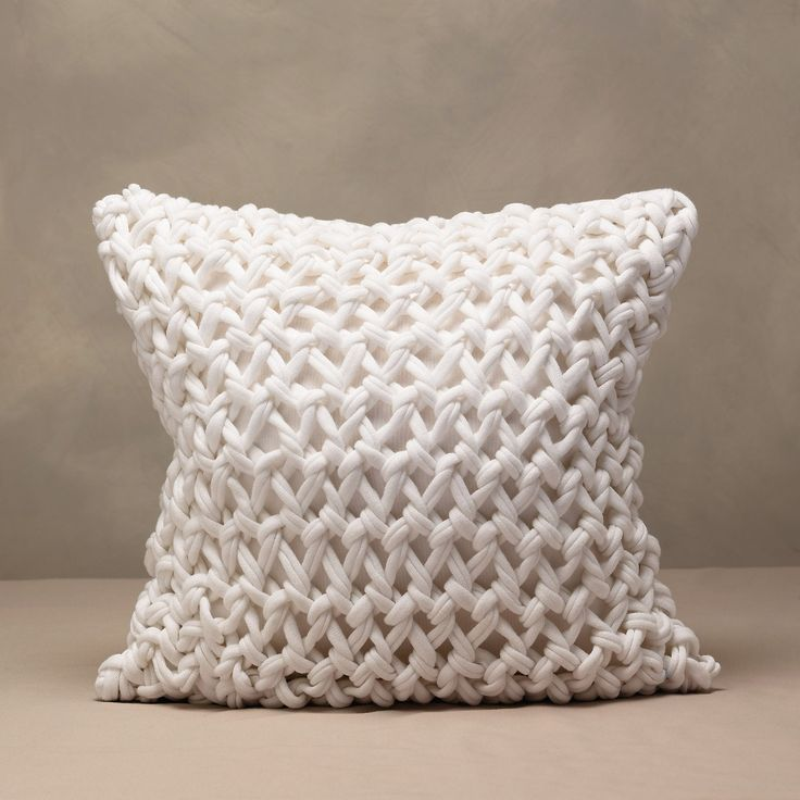 chunky hand knit cushion cover the white company