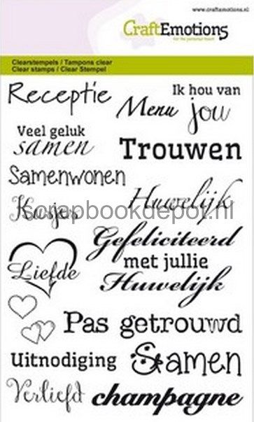 CraftEmotions clearstamps A6 - huwelijk (NL)