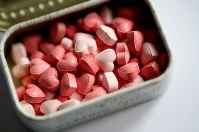 heart candyValentine Day, Tins, Pink Heart, Than, Candies, Pills, Valentine Gift, Favors Boxes, Bridesmaid Gift