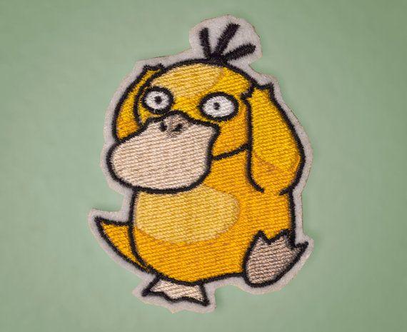 Psyduck  Embroidered Ironon Generation 1 Pokemon Patch by OKsmalls, $5.00
