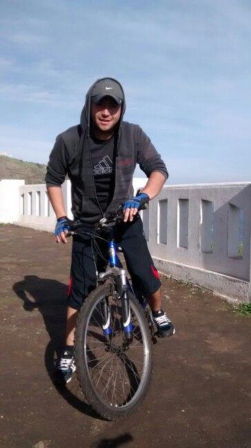 En playa ancha... Dia de bici