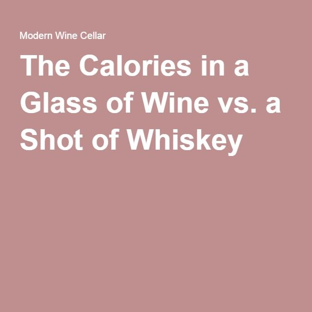The Calories in a Glass of Wine vs. a Shot of Whiskey