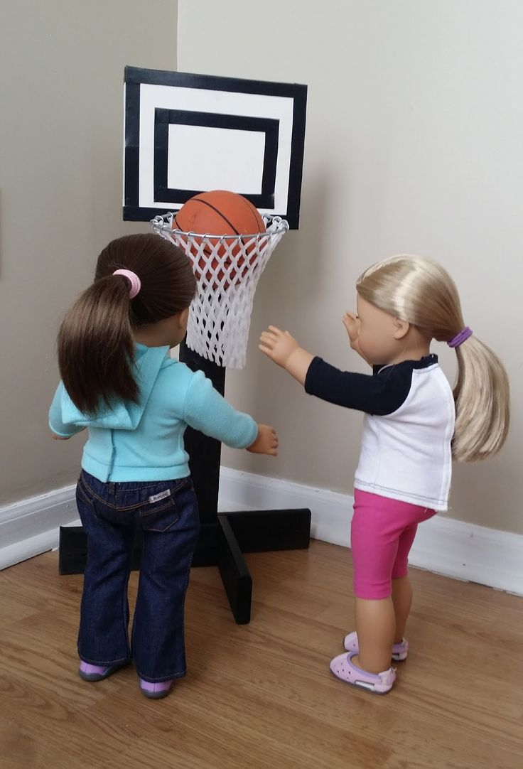 American Girl Doll Crafts and Fun!: Craft: Make a Doll Size Basket Ball Hoop with Stand