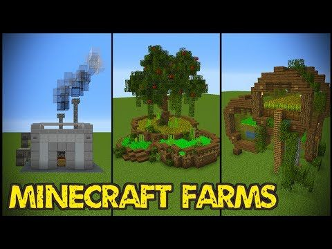 minecraft farming with a farm house design ideas and tutorial - Minecraft Design Ideas