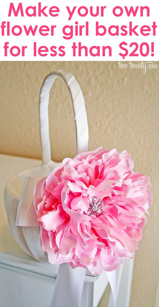 26 best flower girl baskets images on Pinterest | Wedding stuff ...