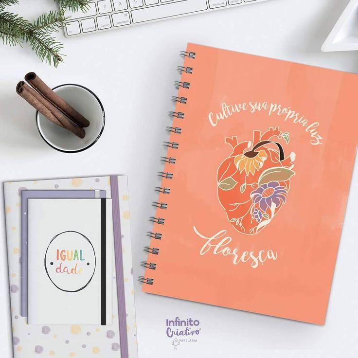 """47 curtidas, 2 comentários - Infinito Criativo Papelaria (@infinitopapelaria) no Instagram: """"Floresça♥ Reconhecer nossa própria luz e cultivar os sentimentos bons é um exercício diário que…"""""""