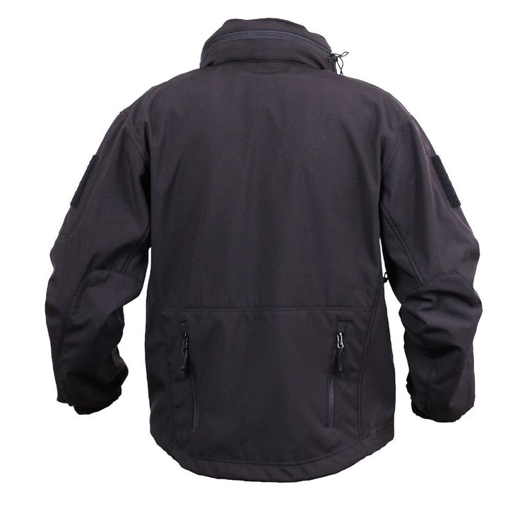 Men's Black Concealed Carry Soft Shell Tactical Jacket Waterproof Coat – Grunt Force
