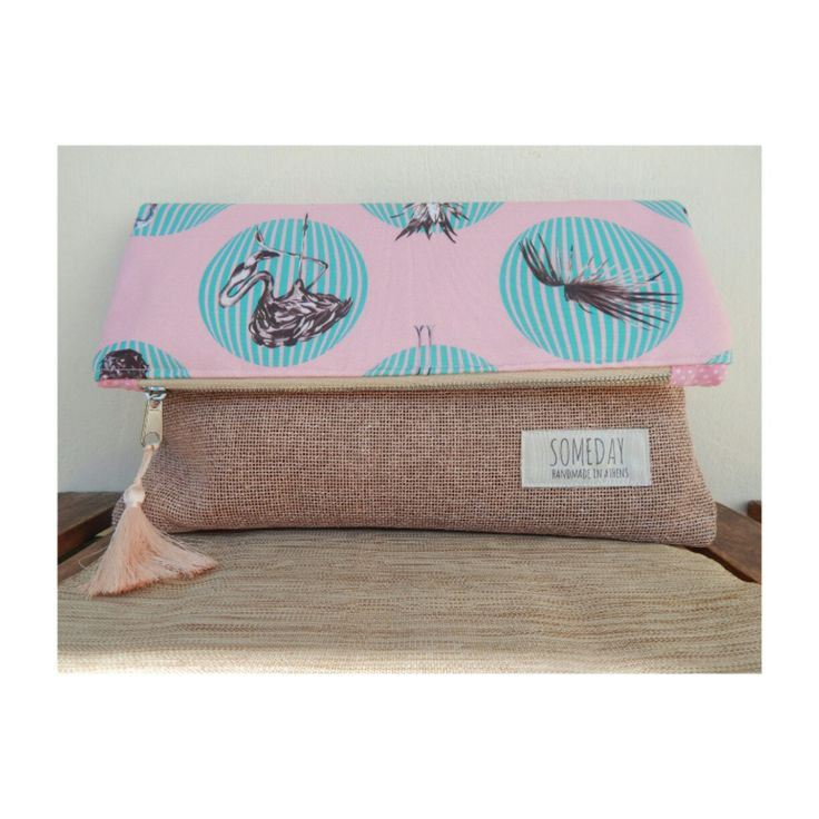 Someday summer bag with flamingos