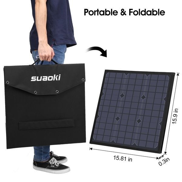 Suaoki 120w Solar Charger Foldable Solar Panel For Smartphones Laptops Car Battery Power Stations Wish In 2020 Solar Panel Charger Solar Charger Solar Panel Battery