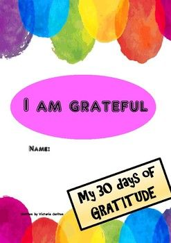 This is a 30 day GRATITUDE JOURNAL. We know children (and adults) will be happier, more optimistic, often achieve better grades and experience better health when they adopt a grateful attitude. Ask your children to write and draw in here every school day for 6 weeks and give them suggestions for