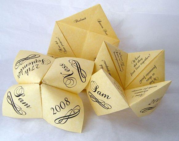 Origami Save The Dates | Bride Ideas