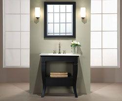 """30"""" Xylem V-CAMINO-30BK Bathroom Vanity #BathroomRemodel #BlondyBathHome #BathroomVanity  #TransitionalVanity"""