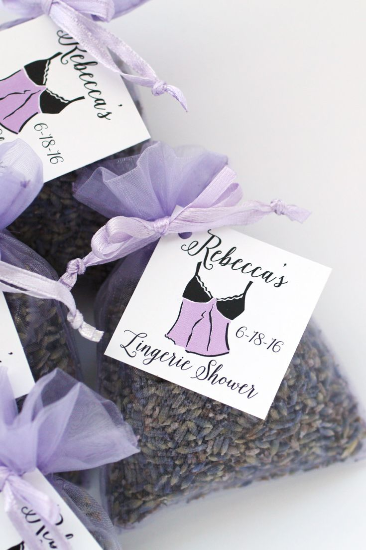 Is she naughty or nice? Maybe a little bit of both! These lingerie shower favors will celebrate the bride-to-be and her guests! Click through to start designing yours!