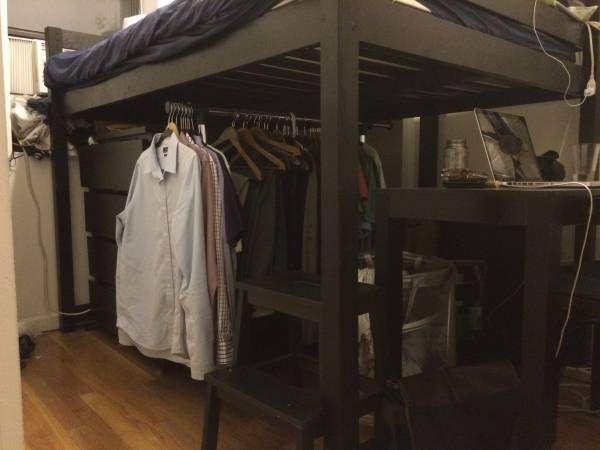 IKEA Stora Half-Loft Bed Frame Full-Size
