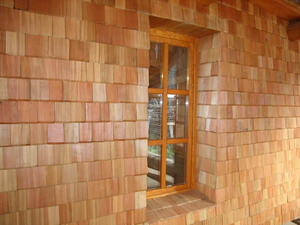 Оригинальная облицовка из древесины
