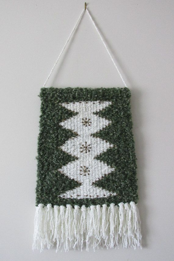 Woven Wall Hanging Christmas Wall Decoration by FineBubbles