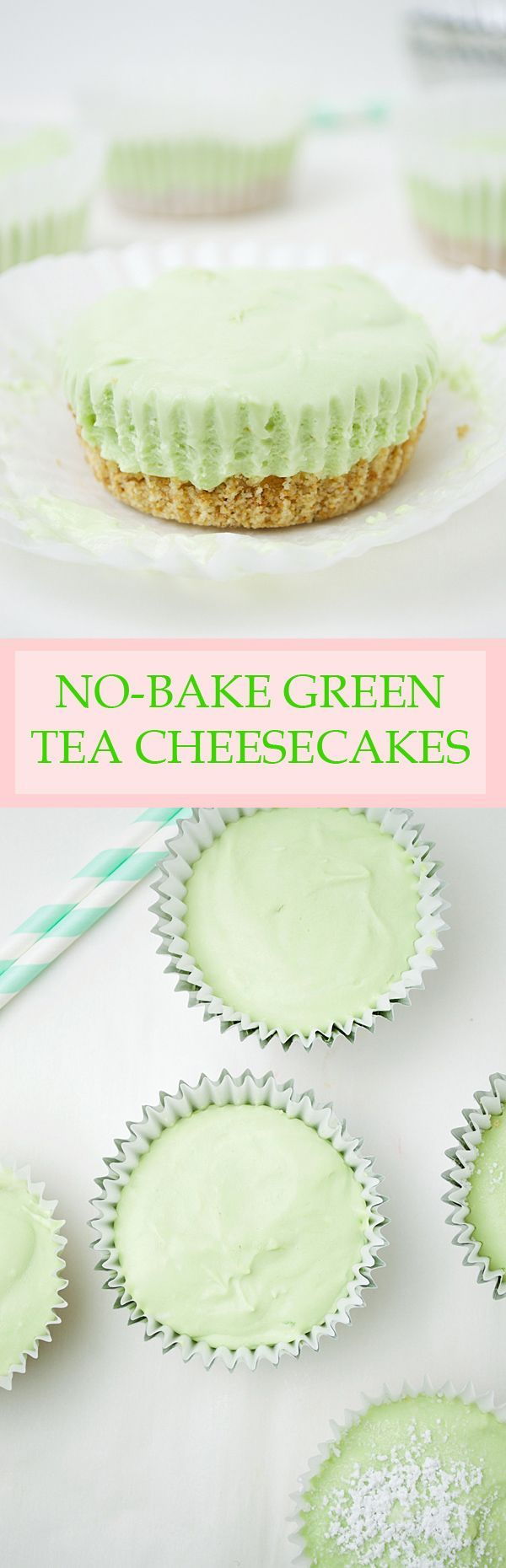 No-Bake Mini Green Tea Cheesecakes- no oven required for these creamy, light, and perfectly sweet matcha green tea cheesecakes! (scheduled via http://www.tailwindapp.com?utm_source=pinterest&utm_medium=twpin&utm_content=post25804272&utm_campaign=scheduler_attribution)
