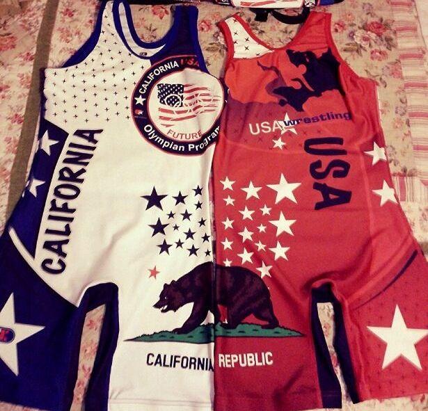 2014 Fargo, ND Nationals Team California Women's Wrestling Singlets