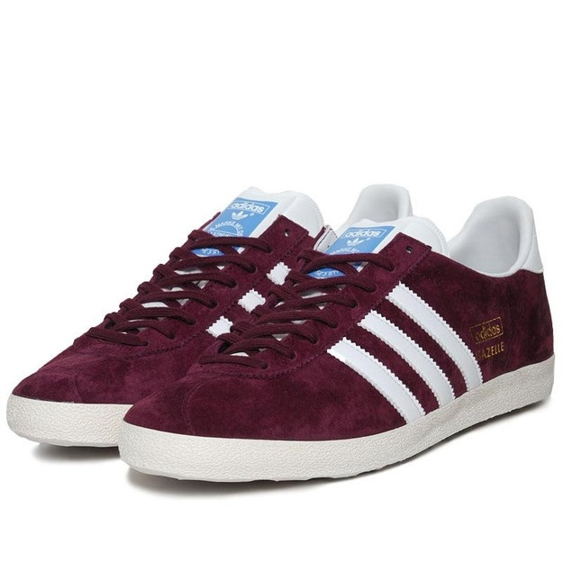 A regular reissue from Adidas, with the Adidas Gazelle OG trainers now back  in a maroon suede finish. An OG reissue of the original and slimmer Gazelle,