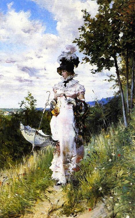 Giovanni Boldini, La passeggiata estiva (1874).