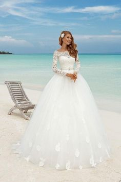 Modest Country Wedding Dress White Muslim Custom Made Long Sleeve Princess Lace Bridal Ball Gowns 2017 Mermaid Wedding Dress Silver Dresses From Conniefox, $145.73| Dhgate.Com